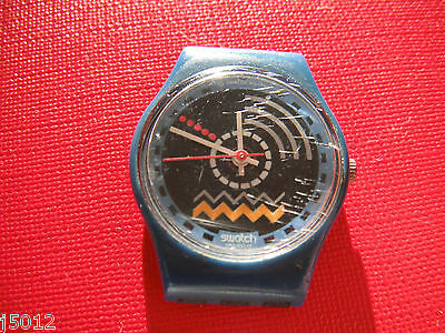 VINTAGE SWATCH WATCH WOMANS SMALL Blue 1980's RETRO SWISS MADE SW18