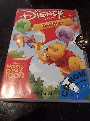 DISNEY LEARNING Winnie The Pooh AGE 18 Months to 3 Years PC CD FREE AUST POST Z3