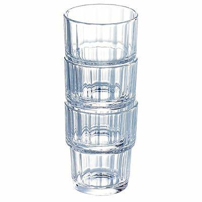 72x Arcoroc Norvege Old Fashioned Tumblers 270ml Drinking Glasses Restaurant Bar
