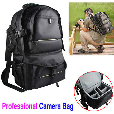 Extra Large Capacity DSLR SLR Camera Backpack Rucksack Bag for Canon Nikon Sony