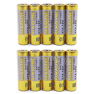 10 Pcs 27A 12V MN27 GP27A L828 R27A MS27 CA22 Alkaline Battery For Remote Alarm