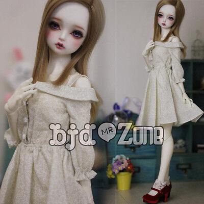 63f3e67d227 New 1 3 SD DD BJD Smart Doll Clothes Beautiful Light yellow Condole Belt  Dress
