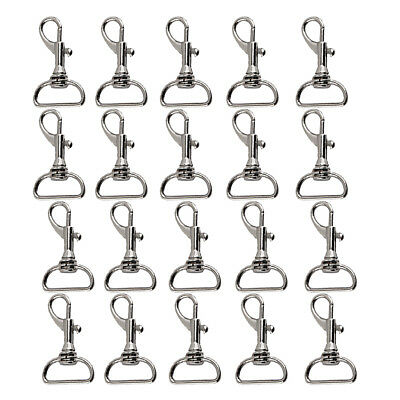 20pcs 19mm Strap Trigger Swivel Clip Dog Lead Leather Craft Snap Hook Silver