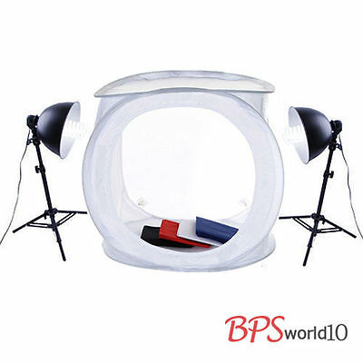 2x85W Softbox Continuous Lighting Tent Kit 4 Backdrop + Stand + 80cm Soft box UK