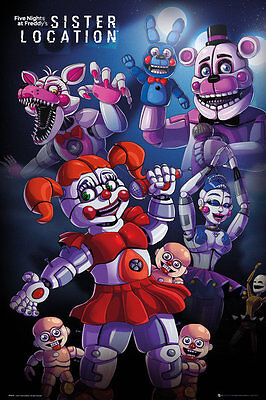 FP4434 Five Nights At Freddy's Sister Location Group MAXI POSTER SIZE 91 x 61cm