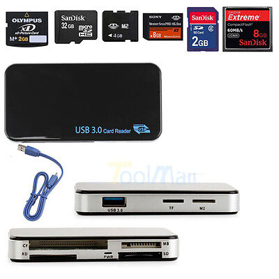 USB 3.0 Compact Flash All-in-1 Multi Memory Card Reader Adapter CF MicroSD TF XD