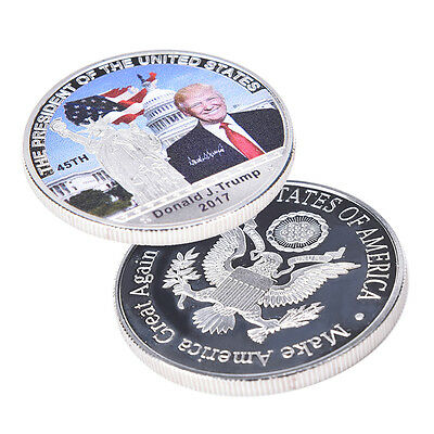 American. 45th President Donald Trump Silver Coin US White House Coin Collection