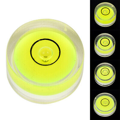 Circular Bubble Spirit Level Fluorescent Green Circle Round Tool for Tripod