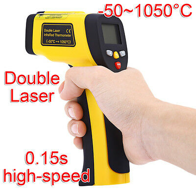 Infrared Laser Thermometer Pyrometer Temperature Measuring Gun Sensor -50~1050°C
