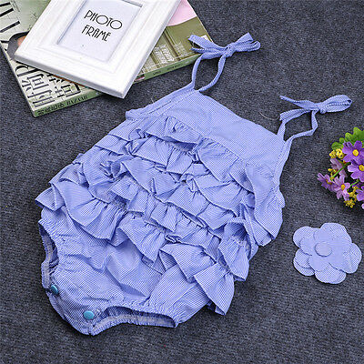 Newborn Baby Girls Floral Lace Dress Romper Bodysuit Jumpsuit Outfit Set Clothes