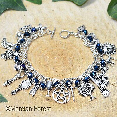 The Witches Charm Bracelet - Midnight Rite - Pagan Jewellery, Wicca, Witchcraft
