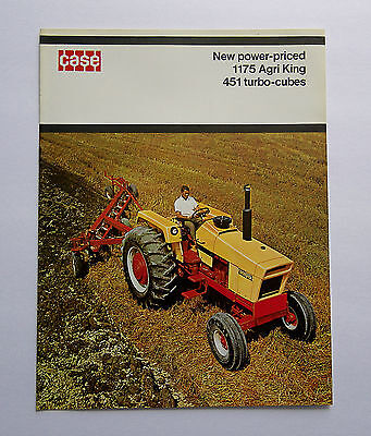 1970's Case 1175 Agri-King Tractor Brochure