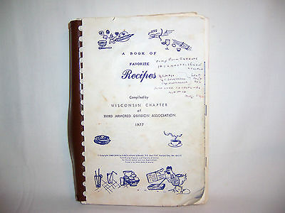 Cookbook recipes Wisconsin 3rd Armored Division Association 36 years