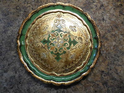 Vintage Florentine Hand Carved and Gilded Wooden Tray