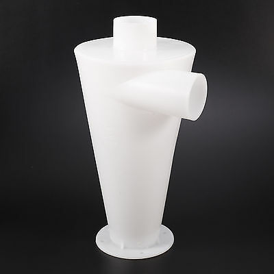 Plastic White Dust Separation Vacuums Cleaners Filter Dust Cyclone Collector
