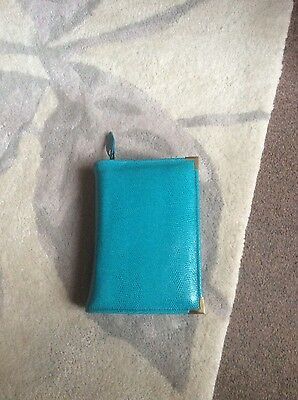 Genuine Turquoise leather bible cover for standard NWT (DLbi12-E)