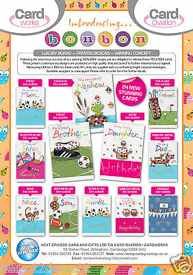 FANTASTIC RELEASE! 'BON BON' RELATIONS CARDS x144, JUST 27p, 24 designs- wrapped