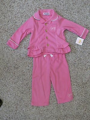 Juicy Couture Baby Girls 2 Piece Pink Sleepwear - Size 24 Months - NWT