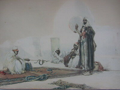 Victorian  Orientalist Print After (Dudley Hardy) The Snake Charmer