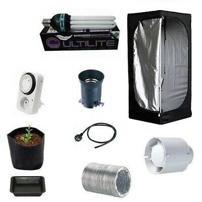 KIT GROW BOX MAMMOTH LITE60 60X60X140 + CFL 125W Coltivazione Indoor