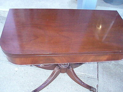 Vintage Mahogany Duncan Phyffe Style Game Table