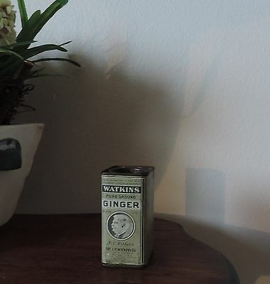 WATKINS PURE GROUND GINGER SPICE 3 OZ TIN ADVERTISING Product inside