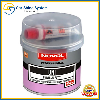 NOVOL UNI Car Body Filler Universal Hard Putty Dent Repair 750g with Hardener