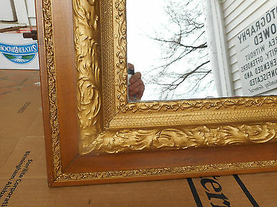 antique gold gilt wood framed mirror