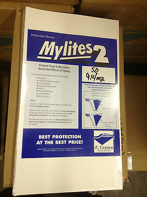 50 CGC Graded, E. Gerber Mylites 2 COMIC BOOK BAGS, 914M2, 2 Mil Thick
