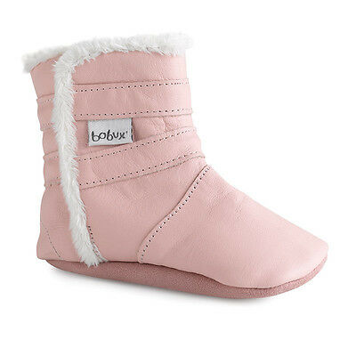 Bobux Soft Leather Sole Baby Girls Pink Pull On Elasticated Boots M L RRP £29.95