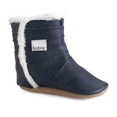 SALE New Bobux Pull On Soft Sole Elasticated Leather Fleeced Boots RRP £29.95