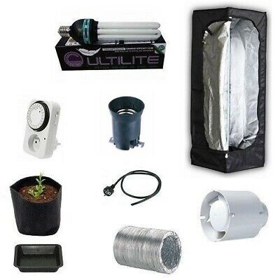 Grow Box MAMMOTH LITE40 40X40X120 Grow Room Completa - Kit Coltivazione Indoor