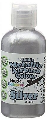 Magic Colours Metallic Edible Airbrush Silver BRAND NEW FREE SHIPPING
