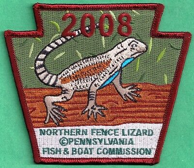 Pa Pennsylvania Fish Commission 2008 Northern Fence Lizard NON GAME Series Patch