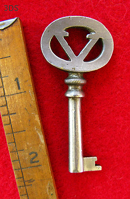 Genuine Nickle Plated Antique Victor Victrola Skeleton Key - More Rare Keys Here