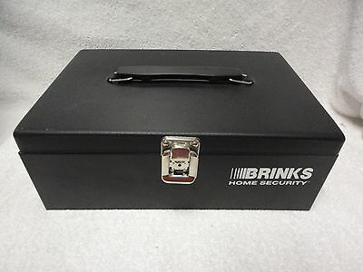 ~BRINKS HOME SECURITY~Steel Low-Profile Locking Cash Box, 1 Key, Removable Tray