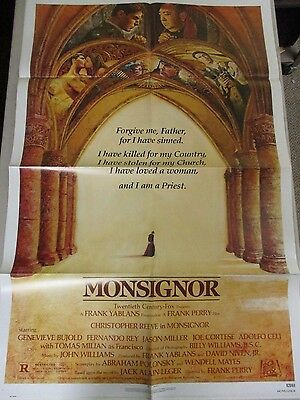 Vintage 1 sheet 27x41 Movie Poster MONSIGNOR 1982 Christopher Reeves