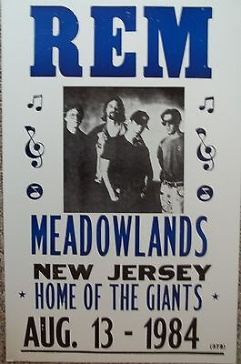 R.E.M. playing at The Meadowlands in New Jersey  Poster Print