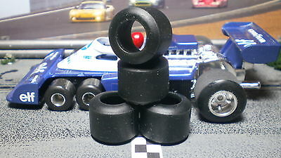 "1/32 URETHANE SLOT CAR TIRES 2pr fit Strombecker/Polistil ""Evolution"" Rear Hubs"