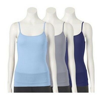 Fruit of the Loom Womens 3-pack Soft Camisoles 3DSCSCM Large L Cami FREE S&H