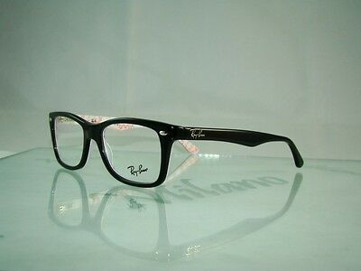 NEW Ray Ban Rayban RB 5228 5014 BLACK Glasses Eyeglasses Frames Size 50