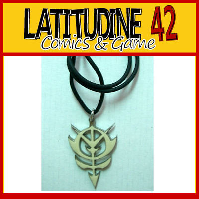 NECKLACE Series GUNDAM ZEON Metal MANGA WHITE