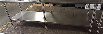 "John Boos & Co.Stainless Steel Work Prep Table 96"" x 30"" Commercial Kitchen"