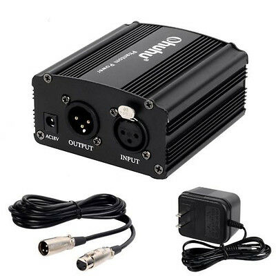 Ohuhu 1-Channel 48V Phantom Power Supply with XLR extension cable  Y42-80300-01