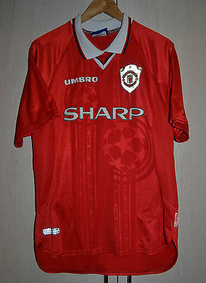 Manchester United Champions League 1999 European Football Shirt Jersey Umbro