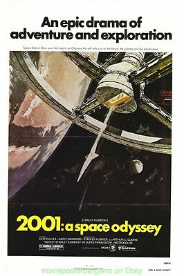 2001: A SPACE ODYSSEY MOVIE POSTER R1980 Folded Original 27x41 STANLEY KUBRICK