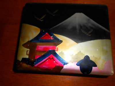 Hand Painted Vintage Japanese Box No Key Nice Old Box
