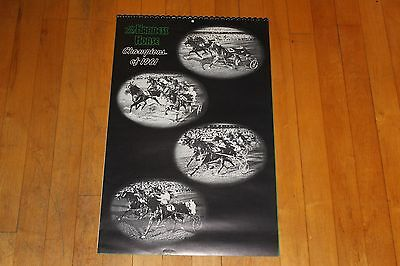 Vintage The Harness Horse Champions of 1961 Calendar is 1962 With Photos