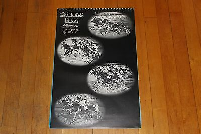 Vintage The Harness Horse Champions of 1974 Calendar is 1975 With Photos