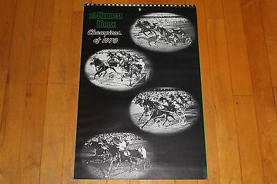 Vintage The Harness Horse Champions of 1970 Calendar is 1971 With Photos